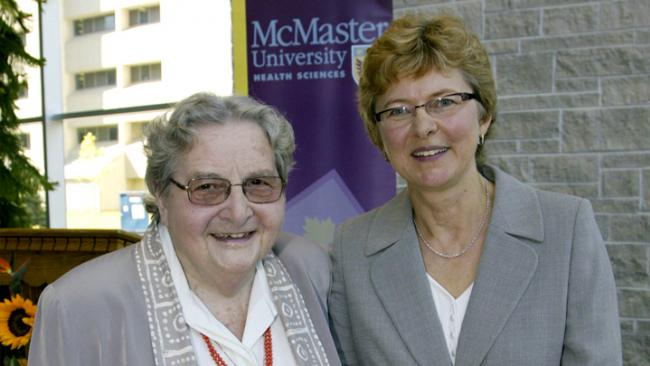 Dorothy C. Hall and Ruta at McMaster University